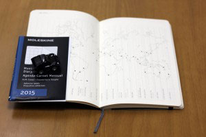 MOLESKINE(モレスキン)「Monthly Notebook Diary」内部