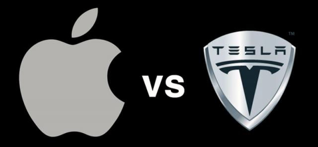テスラとアップルの自動車戦争開始なのか