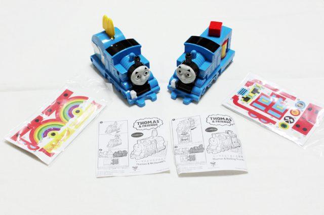 マクドナルドのハッピーセットおもちゃ「きかんしゃトーマス」の2種類のトーマス中身です。