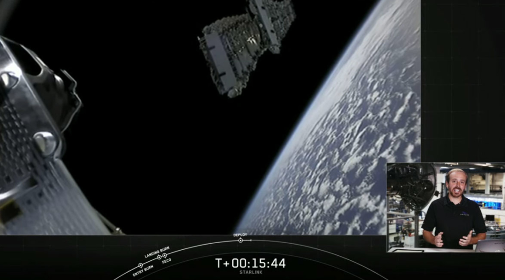 SpaceX社Starlink Missionの6番目宇宙へ