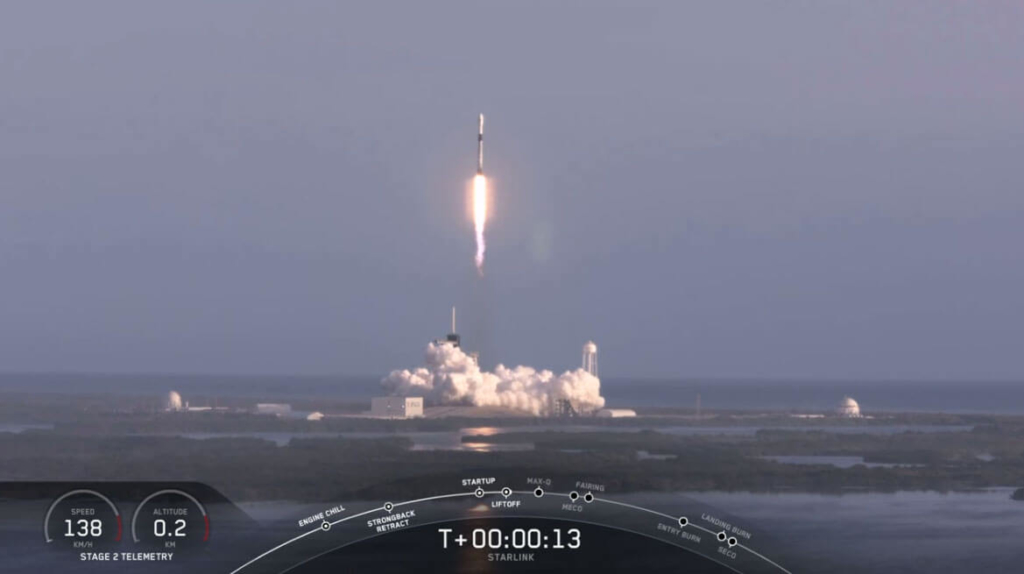 SpaceX社Starlink Missionの6番目打ち上げ